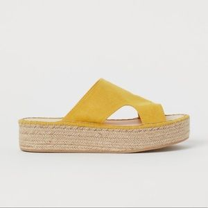 Divided by H&M yellow Platform Sandals 9.5